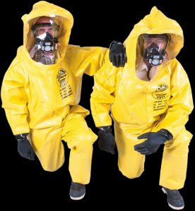 Men in Biohazard Suits